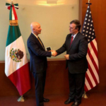Governor Ricketts with Mexico's Secretary of Foreign Affairs, Marcelo Ebrard. (Courtesy of Office of Governor Pete Ricketts)