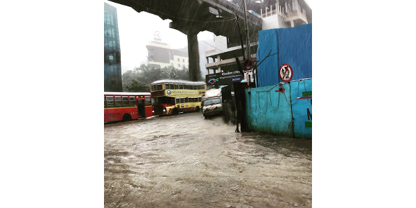 Heavy rainfall during 2017 Indian summer monsoon season floods Mumbai streets. These events can cause catastrophic loss of property and life, but new dataset developed by a collaboration led by Purdue University may help improve predictions and reduce damage. (Photo credit: Aditya Kuber, Mumbai)