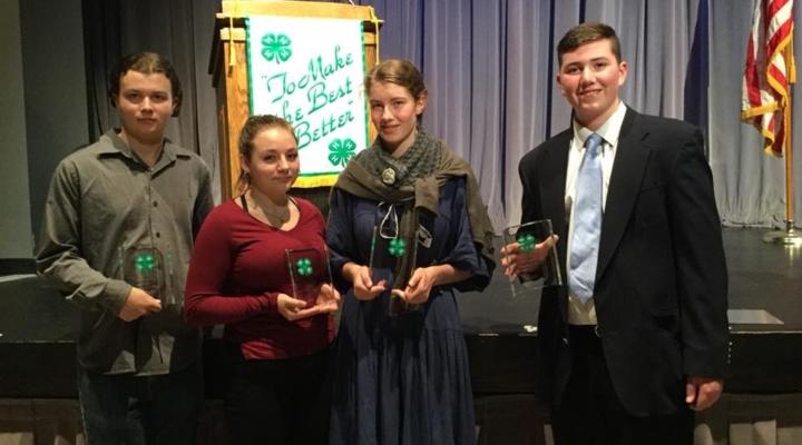 Teens Selected as 4-H's Outstanding Members