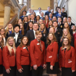 Career and Technical Student Organization representatives with State Representative Ed Clere. (Courtesy of Indiana State Department of Agriculture)