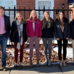 From left to right: James McArtor, Krystin Oborny, Lily Woitaszewski, Hailey Walmsley, Jessica Weeder, Nicole Laue Not pictured: Morgan Leefers, Madison Jones, Jacob Griess. (Courtesy of Nebraska Corn Growers Association)
