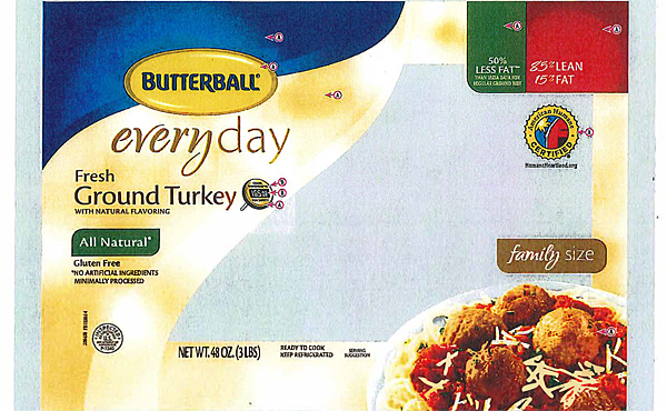 Butterball recalls ground turkey due to salmonella