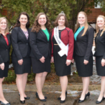 The five top candidates are Sarah Achenbach, Eastman; Cassandra Krull, Lake Mills; Abigail Martin, Milton; Mariah Martin, Brooklyn; and Tess Zettle, Juda. (Courtesy of Wisconsin Department of Agriculture)