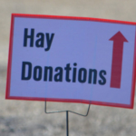 Disaster relief donations of hay and fencing materials are being collected by the Nebraska College of Technical Agriculture. (Courtesy of NCTA)