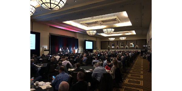 Kansas State University and the Commodity Futures Trading Commission will host AgCon2019 April 11-12 in Overland Park, Kansas. Pictured are attendees of last year's conference. (Courtesy of K-State Research and Extension)