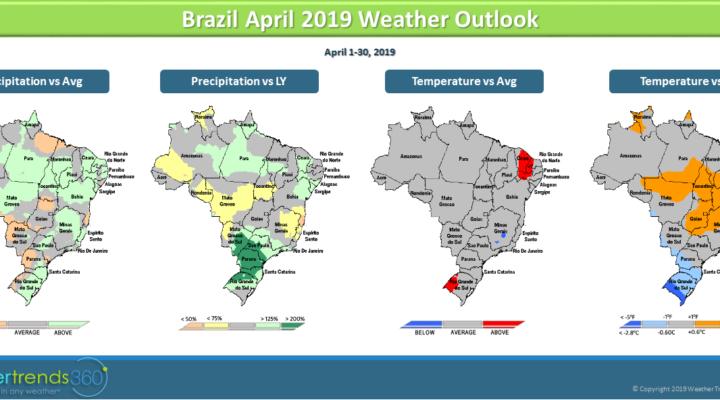 Brazil crop update; US temperature outlook