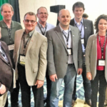 National Pork Board (NPB) and National Pork Producers Council (NPPC) delegates traveled to Orlando, Florida for the National Pork Forum. (L to R) Leo Hanson, Fremont; Dave Harrington, St Paul; Bill Luckey, Columbus; Duane Miller, Davenport; Aaron Reichmuth, Humphrey; Mike Wisnieski, Omaha; Shana Beattie, Sumner; Russ, Vering, Howells. Darin Uhlir from St Paul not pictured. (Courtesy of Nebraska Pork Producers Association)