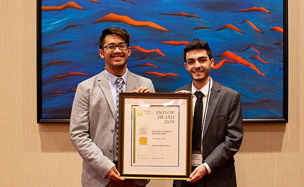 SEBS student project wins landscape award