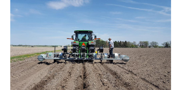 Eco-Drip of Hastings donated and installed a subsurface drip irrigation (SDI) system for a TAPS Farm Management Competition at the West Central Research and Extension Center in North Platte. (Courtesy of University of Nebraska-Lincoln)