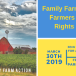 "Three Hoosier farmers, Greg Gunthorp of Gunthorp Farms in LaGrange, Indiana, and Randy and Sherri Dugger of Dugger Family Farm in Morristown, Indiana, will be traveling to Storm Lake, Iowa, to participate in a Farmers Bill of Rights Rally organized by Family Farm Action, a national coalition of family farmers and advocates building the ""political muscle"" to fight for farmers and rural communities. (Screenshot from http://www.farmaction.us/events/farmers-bill-of-rights-rally/)"