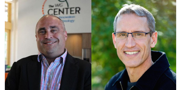 Kevin France (left), SWIIM's CEO and Jeffrey Orrey (right), founder and chief science officer, GeoVisual. (Courtesy of CFVGA)