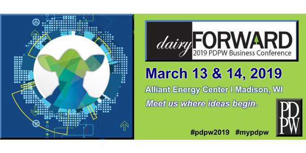 The countdown is on to the 2019 PDPW Business Conference, presented by Professional Dairy Producers®, set for Mar. 13-14, 2019, at the Alliant Energy Center in Madison, Wis. (Courtesy of PDPW)