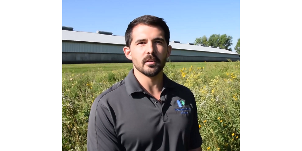Ben Crawford, environmental services director for Prestage Farms of Iowa, is featured in a new video (linked below) about Iowa pork producers' cooperation with researchers to plant and survey monarch habitat plots on their land. (Courtesy of ISU)