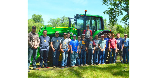 Youth participate in an NDSU Extension tractor safety school. (NDSU photo)