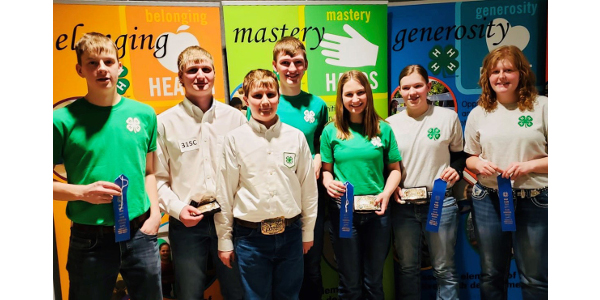 Youth place in N.D. 4-H Livestock Judging Contest