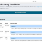 "Screenshot of pending requests for relief on the new ""Nebraska Strong"" website."