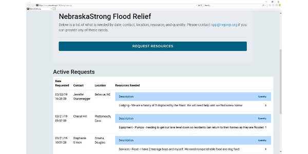"New ""Nebraska Strong"" relief website"