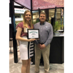 Amber accepted her $1,000 scholarship at the Commodity Classic Trade Show in addition to being recognized during the NCGA Awards Banquet. (Courtesy of Missouri Corn Growers Association)