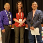 Elected/re-elected to the CFVGA Board of Directors were (left to right) Robert Sakata, Sakata Farms, Brighton; Catharine Soukup, American AgCredit, Greeley; and Glenn Hirakata, Hirakata Farms, Rocky Ford. Each was elected to a three-year term. (Courtesy of CFVGA)