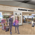 A concept image of The Farmers' Market Featuring Indiana Grown provided by SSP America.