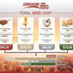 Further benefits to producers in regard to planting sorghum acres in 2019 include a lower cost of seed and production relative to other commodities (Average of $14.25 per acre), water conservation, improvement benefits to soil health, and diminished demand on the producer as it relates to crop management. A seed cost comparison (non state specific) is included as a reference guide. (Courtesy of Nebraska Grain Sorghum Board)