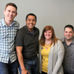 Left to right: Zachary Lubeck, Aaron Holliday, Allison Zabel and Joel Kaelin. (Courtesy of NPPA)