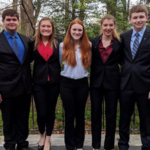From left to right are Eric Keller, Julia Quisley, Kelsie Kinne, Peyton Pangburn and Brendan Mass – Iowa's delegates to the 2019 National 4-H Conference. (Courtesy of ISU Extension and Outreach)