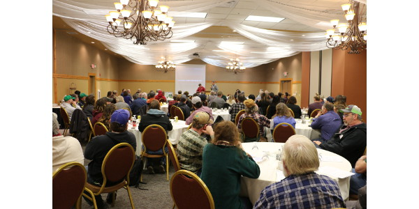 One hundred farmers filled the room for a Dairy Together Road Show stop in Eau Claire, WI on April 2. (Courtesy of Danielle Endvick)