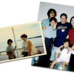 Then and Now: At left, 13-year-old Hiroe Yoshioka and 17-year-old Rose Scott first met in 1977. At right, Scott (center) has visited Hiroe and her family in Japan a few times, and the two remain friends 42 years later. (Courtesy of K-State Research and Extension)