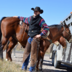 Damian Wellman of Kansas helped round up the NCTA beef herd in the fall, 2017. He is the NCTA Aggie of the Month for March. (Photo by Mary Crawford / NCTA News)
