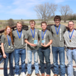 The 5-member St. Paul team won 1st place at the state competition following a day of outdoor testing. (Courtesy of Nebraska Association of Resources Districts)