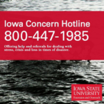 With a toll-free phone number, live chat capabilities and a website, Iowa Concern services are available 24 hours a day, seven days per week at no charge. (Courtesy of ISU Extension and Outreach)