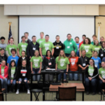 Teens and adults gathered with 90 leaders of all ages for the 2019 Missouri Youth Civic Leaders Summit, April 5-7, near Camdenton. (Courtesy of University of Missouri Extension)