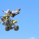 High-flying action will make its debut in the Sleep Number Grandstand at the 2019 Clay County Fair with national touring ATV Big Air Tour. (Courtesy of Clay County Fair)