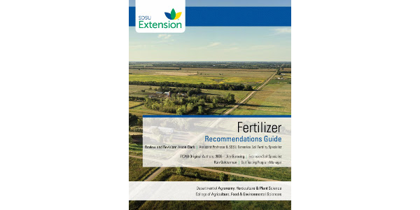 SDSU Extension recently released the online Fertilizer Recommendations Guide, available at extension.sdstate.edu/fertilizer-recommendation-guide. (Courtesy of SDSU Extension)