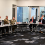 Wednesday, Governor Mike Parson, Iowa Governor Kim Reynolds, and Nebraska Governor Pete Ricketts met with the U.S. Army Corps of Engineers (USACE) and the Federal Emergency Management Agency (FEMA) to hear an updated assessment of flood damage and look ahead on the Missouri River outflow. (Photos Courtesy of Missouri Governor's Office)