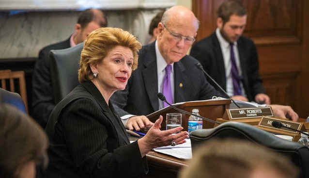 U.S. Senator Debbie Stabenow, Ranking Member of the U.S. Senate Committee on Agriculture, Nutrition, & Forestry and U.S. Senator Pat Roberts, R-Kan., Chairman of the Senate Committee on Agriculture, Nutrition, and Forestry. (U.S. Department of Agriculture, Flickr/Creative Commons)