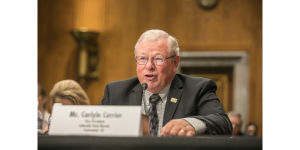 Carlyle Currier, Vice President of Colorado Farm Bureau, presented to the Senate Subcommittee on East Asia, The Pacific, And International Cybersecurity Policy on the importance of expanding agricultural export markets in Indo-Pacific countries. (Courtesy of CFB)