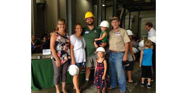The Henry Huisjen family at the Open House in Summer 2018. (Courtesy of Ceres Solutions)