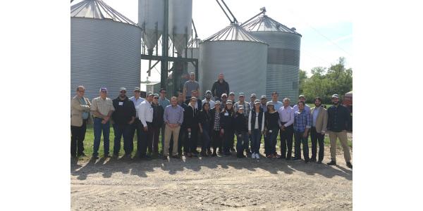 Course participants travel to Bob Hazelwood's farm in Berryton, Kansas. (Courtesy of KSU)