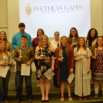 Inductees of Phi Theta Kappa at the Nebraska College of Technical Agriculture, Curtis in a ceremony on May 1 included front, from left: Kelly Gordon, Julesburg, Colorado; Luke Peters, Ainsworth; Jocelyn Kennicutt, Gothenburg; Emily Riley, Norton, Kansas; Aurora Urwiler, Laurel; and Alexis Penna, Holley, NY. Back row, Morgan Curran, Arapahoe; Dean Fleer, Pierce; Kaylee Hostler, Central City; Catherine Ljunggren, Aurora; Amanda Schmidt, Stanton; and Kayla Mues, Cambridge. (E. Griffiths / NCTA Photo)