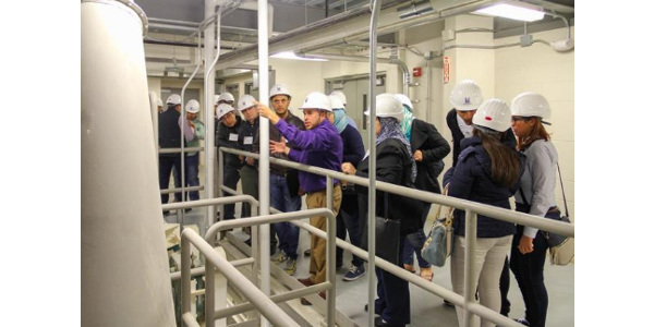 Course participants join course instructor, Carlos Campabadal, for a tour of the O.H. Kruse Feed Technology Innovation Center at Kansas State University's Department of Grain Science North Complex. (Courtesy of KSU)