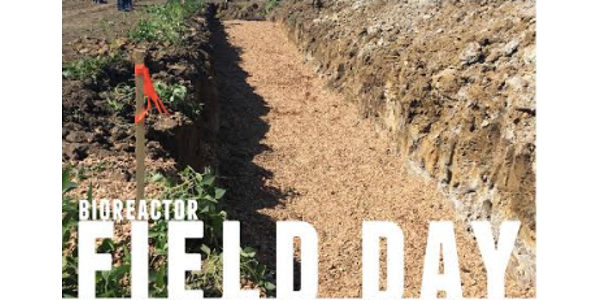 Iowa Learning Farms, in partnership with Iowa Land Improvement Contractors Association (LICA), Iowa Agriculture Water Alliance (IAWA), Natural Resources Conservation Service, Iowa Department of Agriculture and Land Stewardship (IDALS) and Iowa Corn, will host a bioreactor installation field day on Tuesday, June 11 from 5:30-7:30pm at Olie Leimer's farm, rural Albert City. (screenshot from flyer)