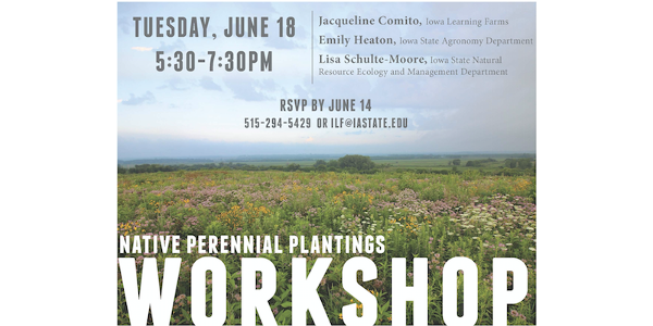 Native perennial plantings are growing in popularity in Iowa among farmers and landowners alike due to their many benefits for wildlife and pollinators, as well as improving soil and water quality. (Screenshot from flyer)