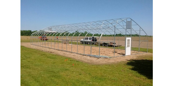 Thanks to a partnership between Southeast Missouri State University and Lincoln University's Cooperative Extension and with assistance from a $28,301 USDA grant, a high tunnel has been installed just north of the Southeast Sikeston Campus, where students will grow a variety of summer and fall vegetables commonly produced in the region, including squash, potatoes, sweet potatoes, peanuts, black-eyed peas and sweet corn, among others. (Southeast Missouri State University)
