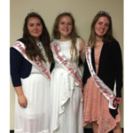 Pictured from left to right are Tesika Kilmer, First Alternate Chautauqua County Dairy Princess; Sophie Woodis, 2019-2020 Chautauqua County Dairy Princess; and Autumn Gregory, Second Alternate Dairy Princess.