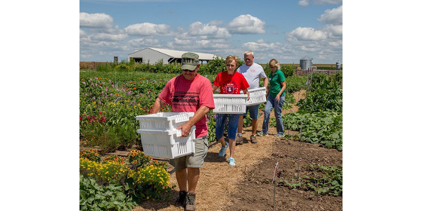 Keeping produce safe and healthy takes a team effort and that includes growers who donate some of their own bounty. (Courtesy of ISU Extension and Outreach)