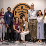 Students participating in the Dean's Global Agriculture and Food Leadership program in Rome include from left: Jake Sterle, a junior in animal science from Roland, Iowa; Maddie McGarry, a senior in agricultural education and studies from Cambridge, Iowa; Toluwani Awokoya, a senior in nutritional science from Lagos, Nigeria; Sophia Breuer, a senior in animal science from Burlington, Iowa; Caryn Dawson, a senior in global resource systems from Palmer, Iowa; Riley Wilgenbusch, a senior in agronomy from Story City, Iowa; Amy Huynh, a senior in environmental science from Ankeny, Iowa; Alison Bueltel, a senior in animal science from Estherville, Iowa; and Shayla Holland, a senior in animal science from Argyle, Texas. (Courtesy of ISU)