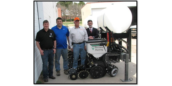 From left, Dr. Brad Ramsdale, Anson Nielsen, Paul Schaffert of Schaffert Mfg. Co., and NCTA Dean Ron Rosati. (NCTA Photo)
