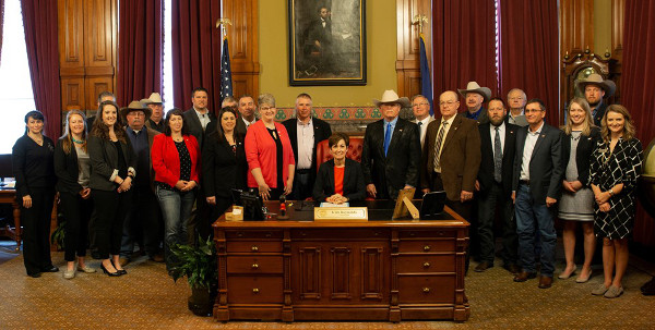 Governor Kim Reynolds joined representatives from Iowa's beef industry to proclaim May as Beef Month. (Courtesy of Iowa Beef Industry Council)